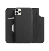 iPhone 11 Pro Max | iPhone 11 Pro Max - FolioPro 2-i-1 Etui M. Magnetisk Aftageligt Cover - Sort - DELUXECOVERS.DK