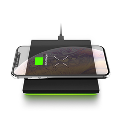 X6 - Ultra-Thin Fast Wireless Charging Pad - 10W - Sort - DELUXECOVERS.DK