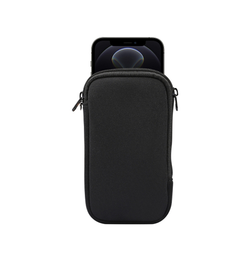 iPhone 12 Pro | iPhone 12 Pro - Simple Nylon Sleeve Etui - Jet Black - DELUXECOVERS.DK