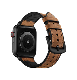 Apple Watch (42-44MM) - Deluxe™ Milano Ægte Læder Rem - Brun - DELUXECOVERS.DK