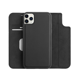 iPhone 11 Pro | iPhone 11 Pro - FolioPro 2-i-1 Etui M. Magnetisk Aftageligt Cover - Sort - DELUXECOVERS.DK