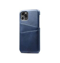 iPhone 11 Pro | iPhone 11 Pro - NX Design Læder Bagcover M. Pung - Blå - DELUXECOVERS.DK