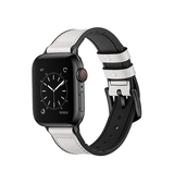 Apple Watch 42mm | Apple Watch (42-44MM) - Deluxe™ Milano Ægte Læder Rem - Hvid - DELUXECOVERS.DK