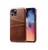 iPhone 11 Pro | iPhone 11 Pro - NX Design Læder Bagcover M. Pung - Brun - DELUXECOVERS.DK