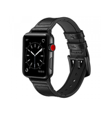 Apple Watch (42-44MM) - Deluxe™ Milano Ægte Læder Rem - Sort - DELUXECOVERS.DK