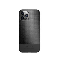 iPhone 12 Pro | iPhone 12 Pro - iPaky™ Silikone Carbon Fiber Cover - Sort - DELUXECOVERS.DK