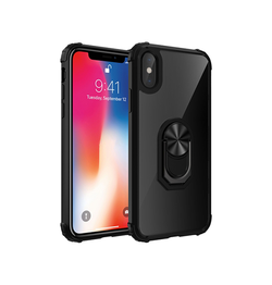 iPhone X/xs | iPhone X/Xs - Cover M. Ring & Magnetisk Kickstand - Sort - DELUXECOVERS.DK