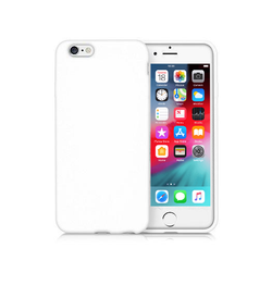 iPhone 6 / 6s | iPhone 6/6s - Novo Frosted Matte Slim Silikone Cover - Hvid - DELUXECOVERS.DK