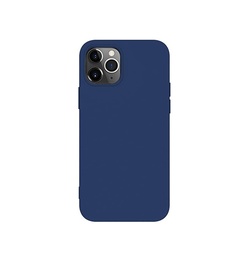 iPhone 12 Pro Max - Deluxe™ Soft Touch Silikone Cover - Navy - DELUXECOVERS.DK