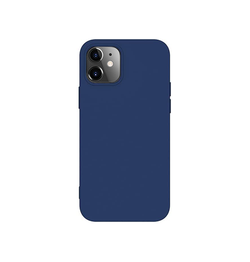 iPhone 12 | iPhone 12 - Deluxe™ Soft Touch Silikone Cover - Navy - DELUXECOVERS.DK