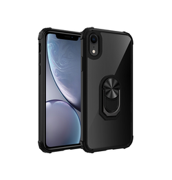 iPhone XR | iPhone XR - Cover M. Ring & Magnetisk Kickstand - Sort - DELUXECOVERS.DK