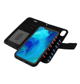 iPhone XR | iPhone XR - Vintage 2-In-1 Læder Etui M. Cover - Sort - DELUXECOVERS.DK