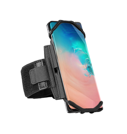 Samsung Galaxy S10+ | Samsung Galaxy S10+ (Plus) - Fit4Run™ Sports / Løbearmbånd - Sort - DELUXECOVERS.DK
