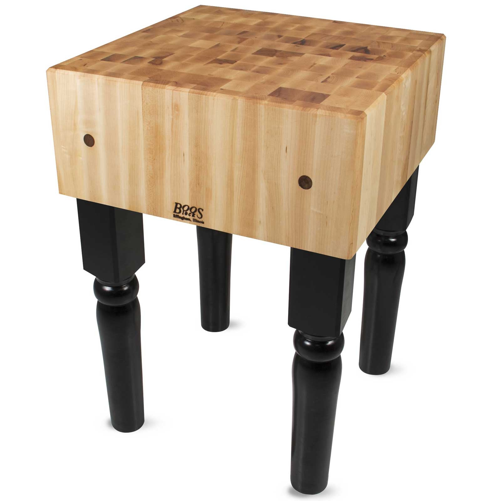 "John Boos 18"" x 18"" x 10"" Maple Top AB Butcher Block"