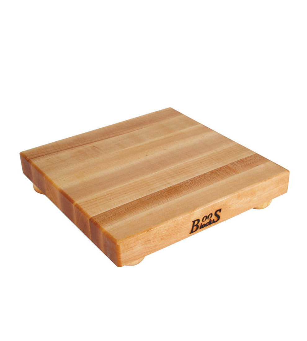 "John Boos 1 1/2"" Thick Square Maple Cutting Board With Feet"