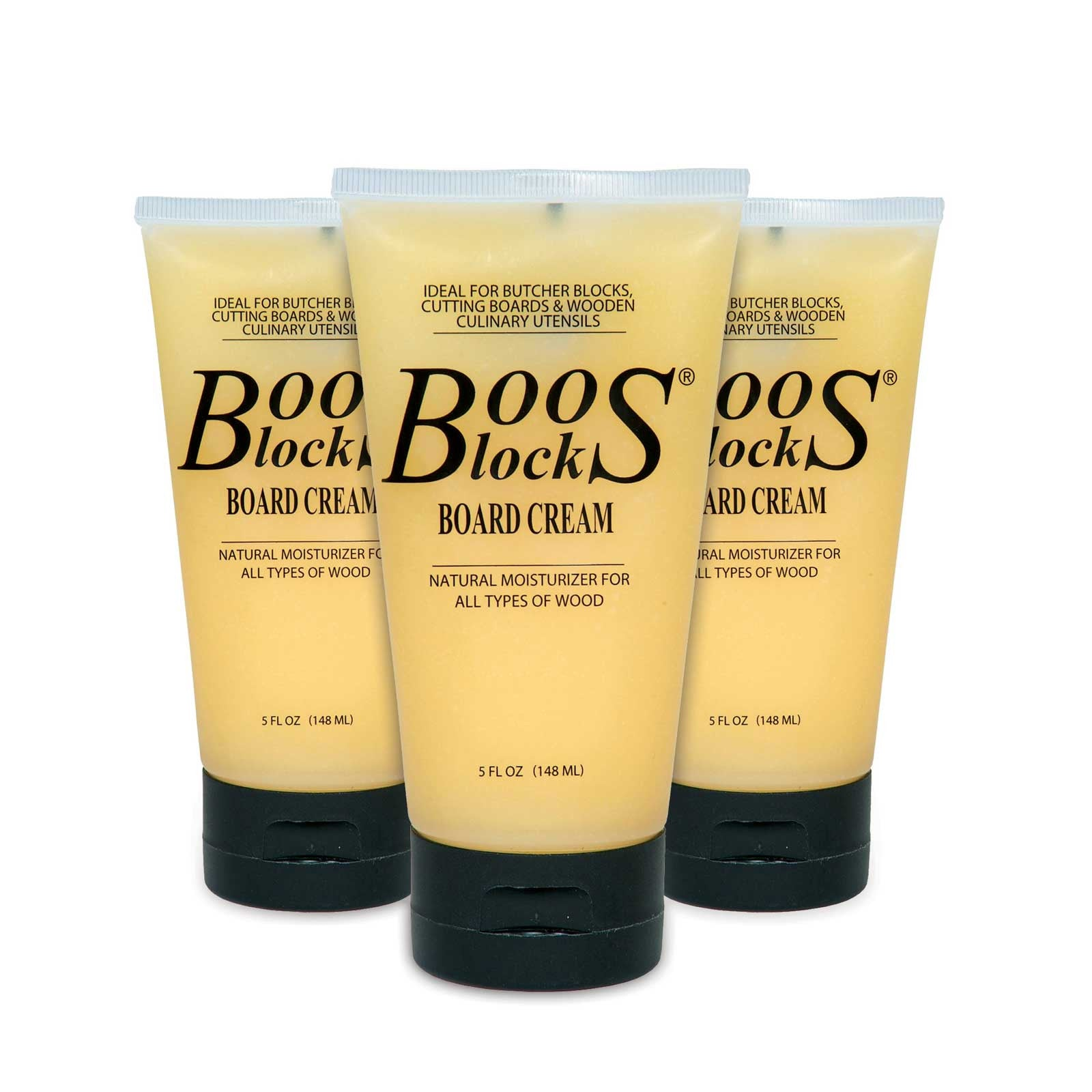 John Boos BWC-3 Bees Wax Cream - 5 oz. Bottle - Case of 3