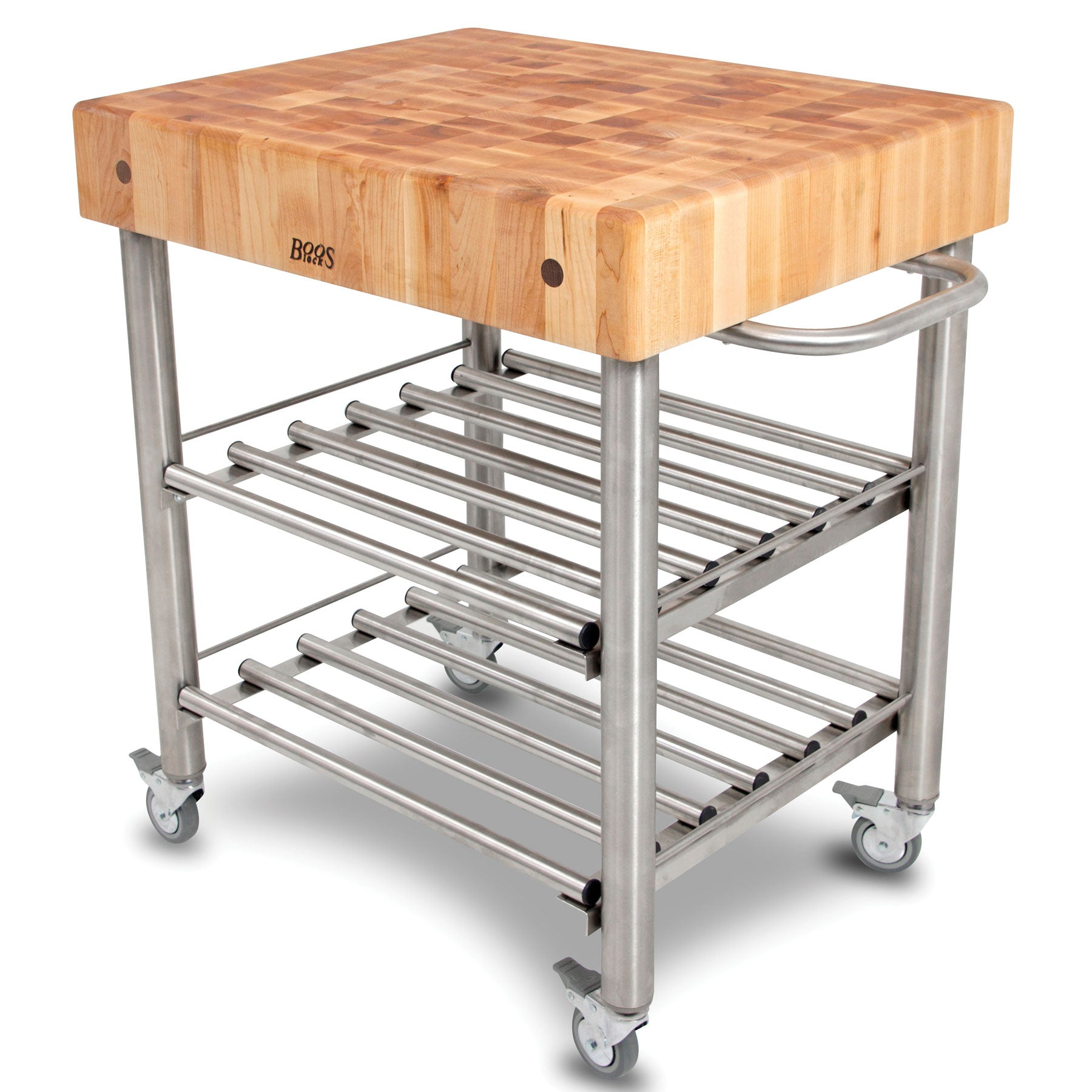 John Boos Maple Top Cucina D'Amico Wine Cart