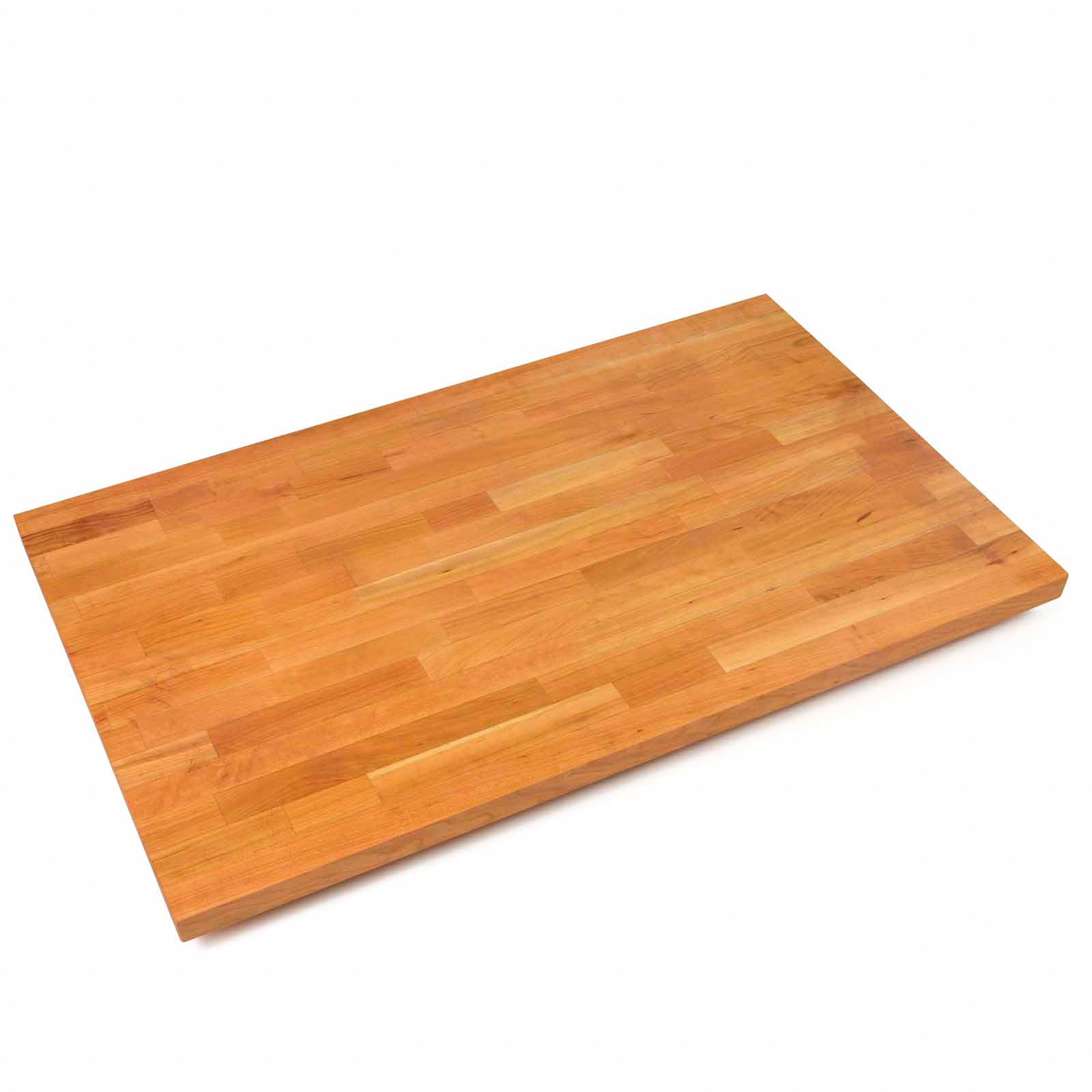 "John Boos 1 1/2"" Thick Blended Cherry Butcher Block Countertop - 27"" Wide"