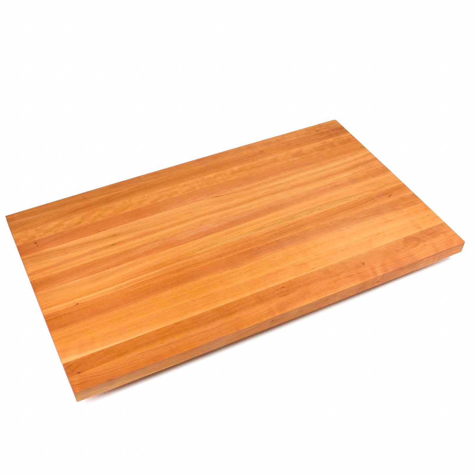 "John Boos 1 1/2"" Thick Edge Grain Cherry Butcher Block Countertop - 38"" Wide"