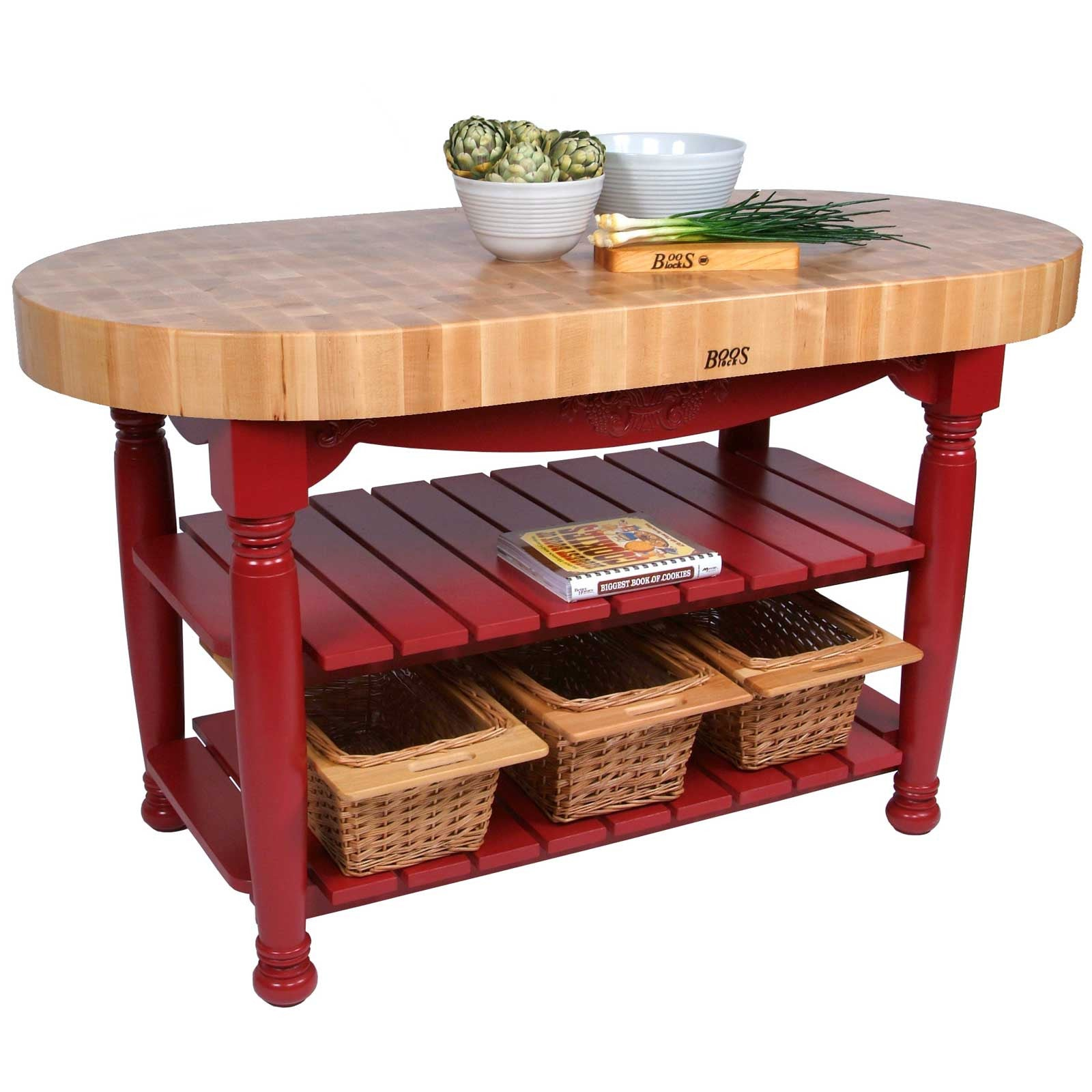 "John Boos CU-HAR 60"" x 30"" x 4"" Maple Top Harvest Table"
