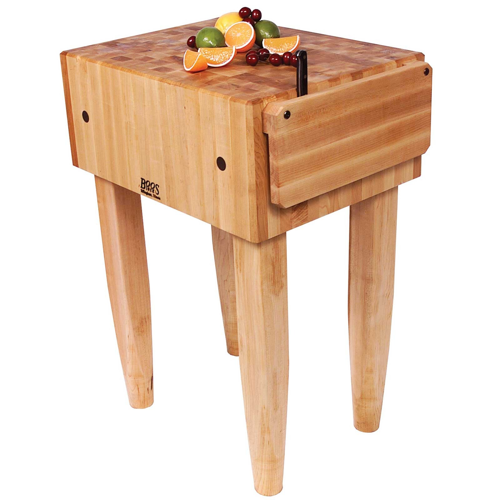 "John Boos 18"" x 18"" x 10"" Maple Top PCA Butcher Block"