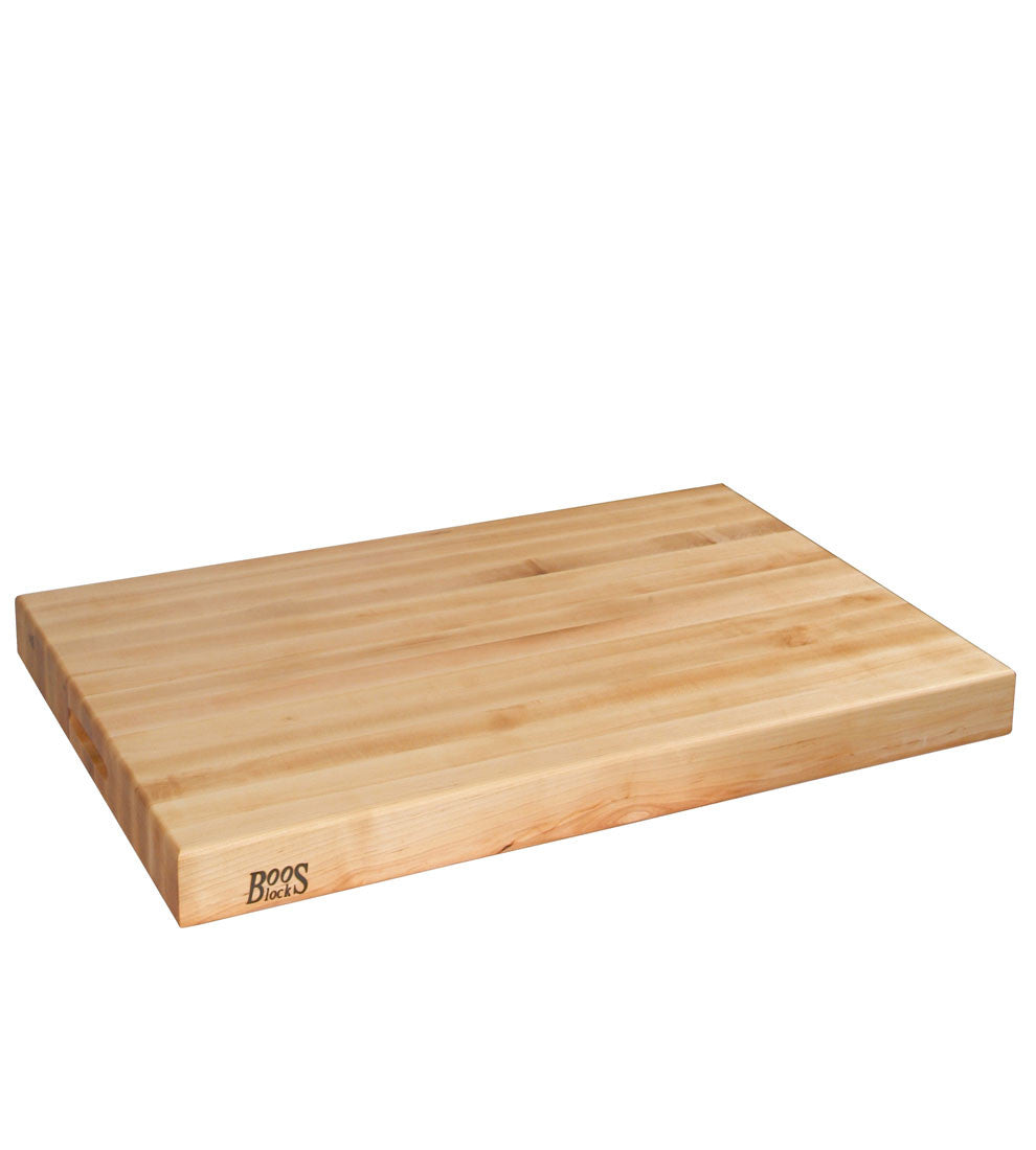 "John Boos 30"" x 23"" x 2-1/4"" Thick Reversible Maple Cutting Board"