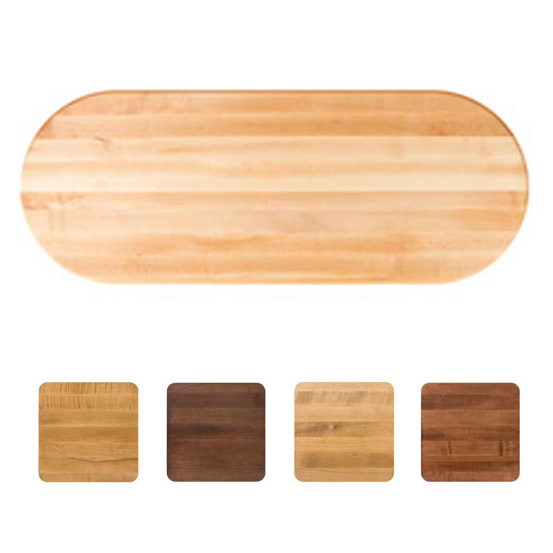 John Boos Oval RTSM Soft Maple Butcher Block Table Top - Stainable