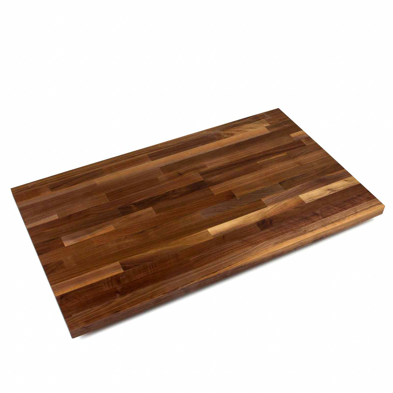 "John Boos 1 1/2"" Thick Blended Walnut Butcher Block Countertop - 38"" Wide"