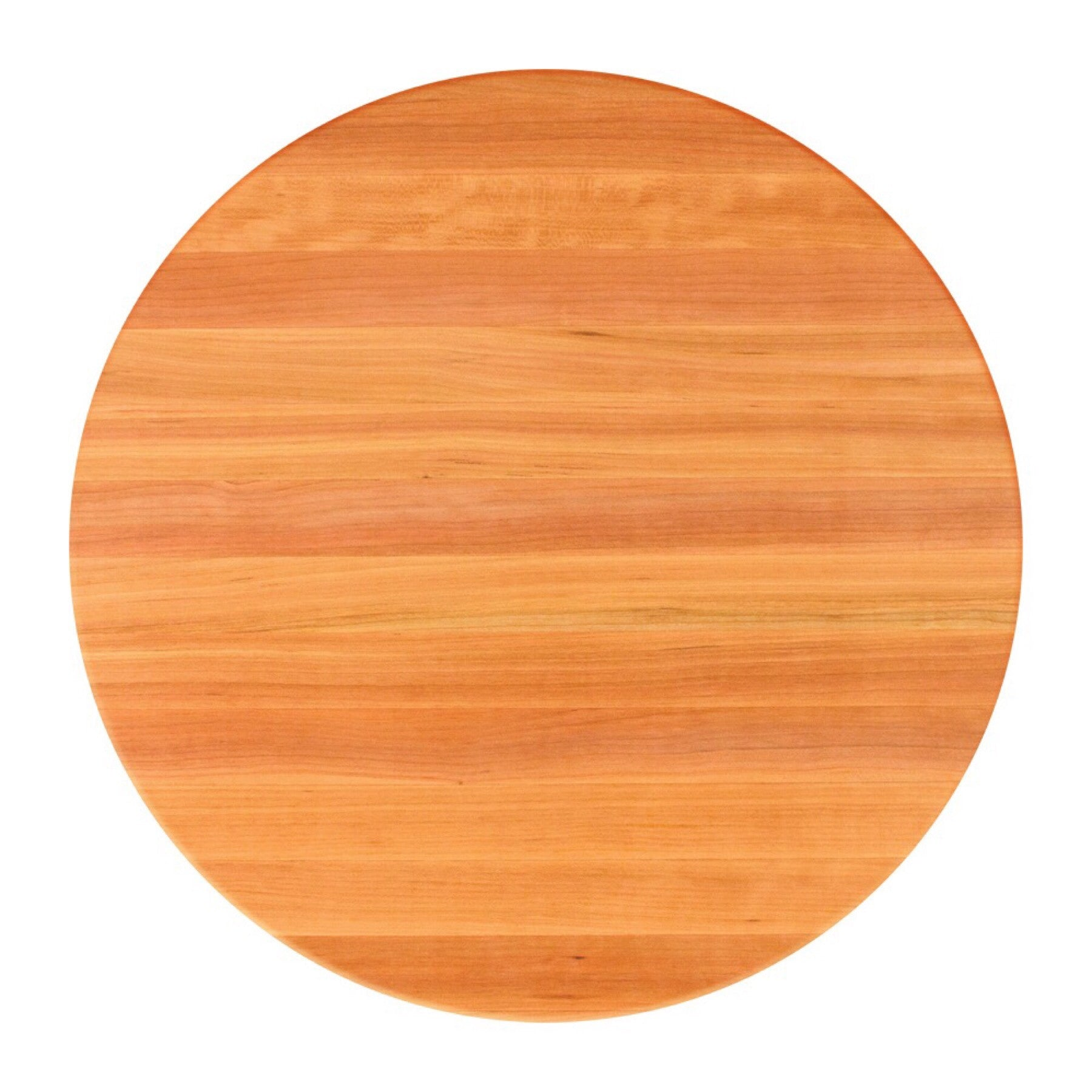 John Boos Round RTO Red Oak Butcher Block Table Top - Stainable