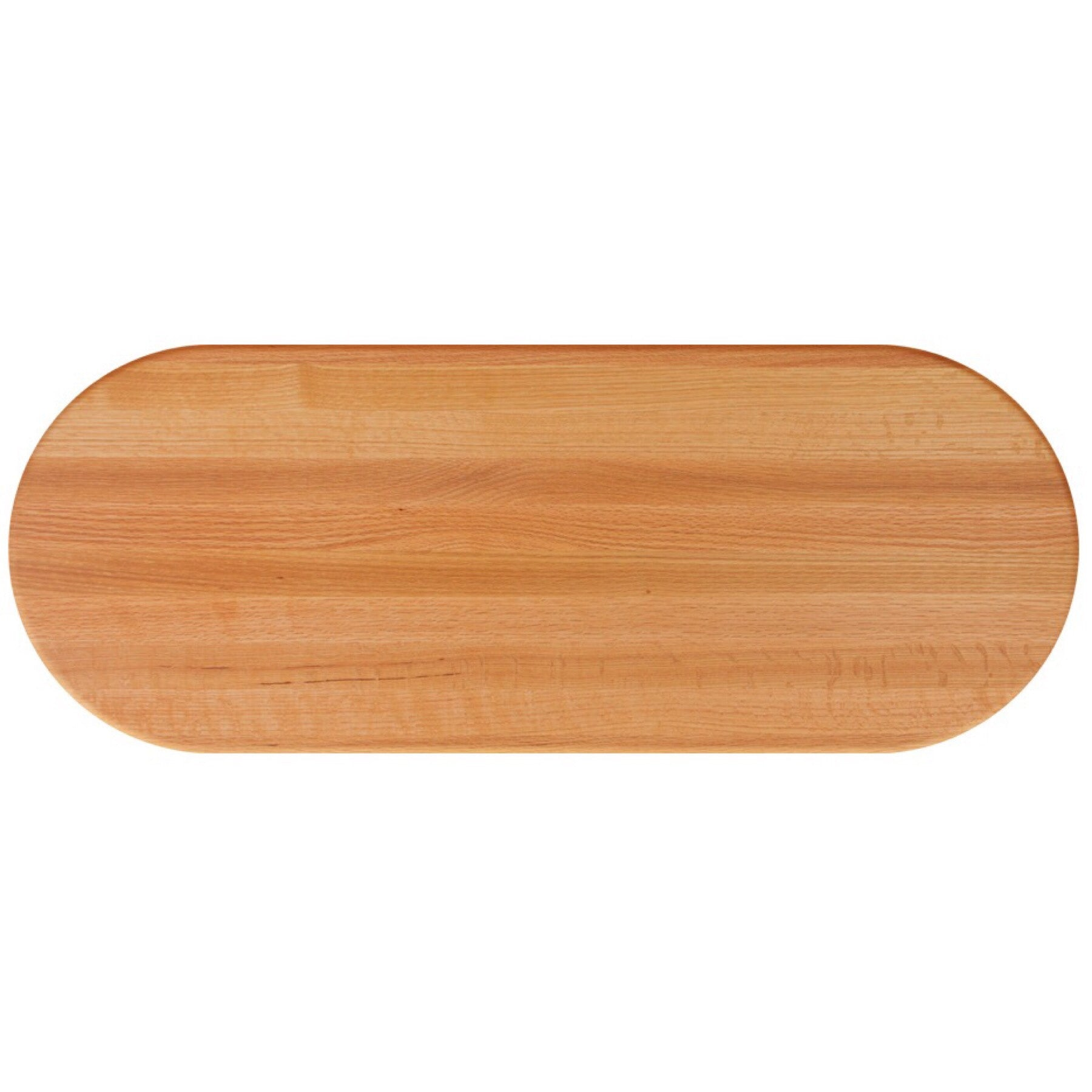 John Boos Oval RTO Red Oak Butcher Block Table Top - Stainable