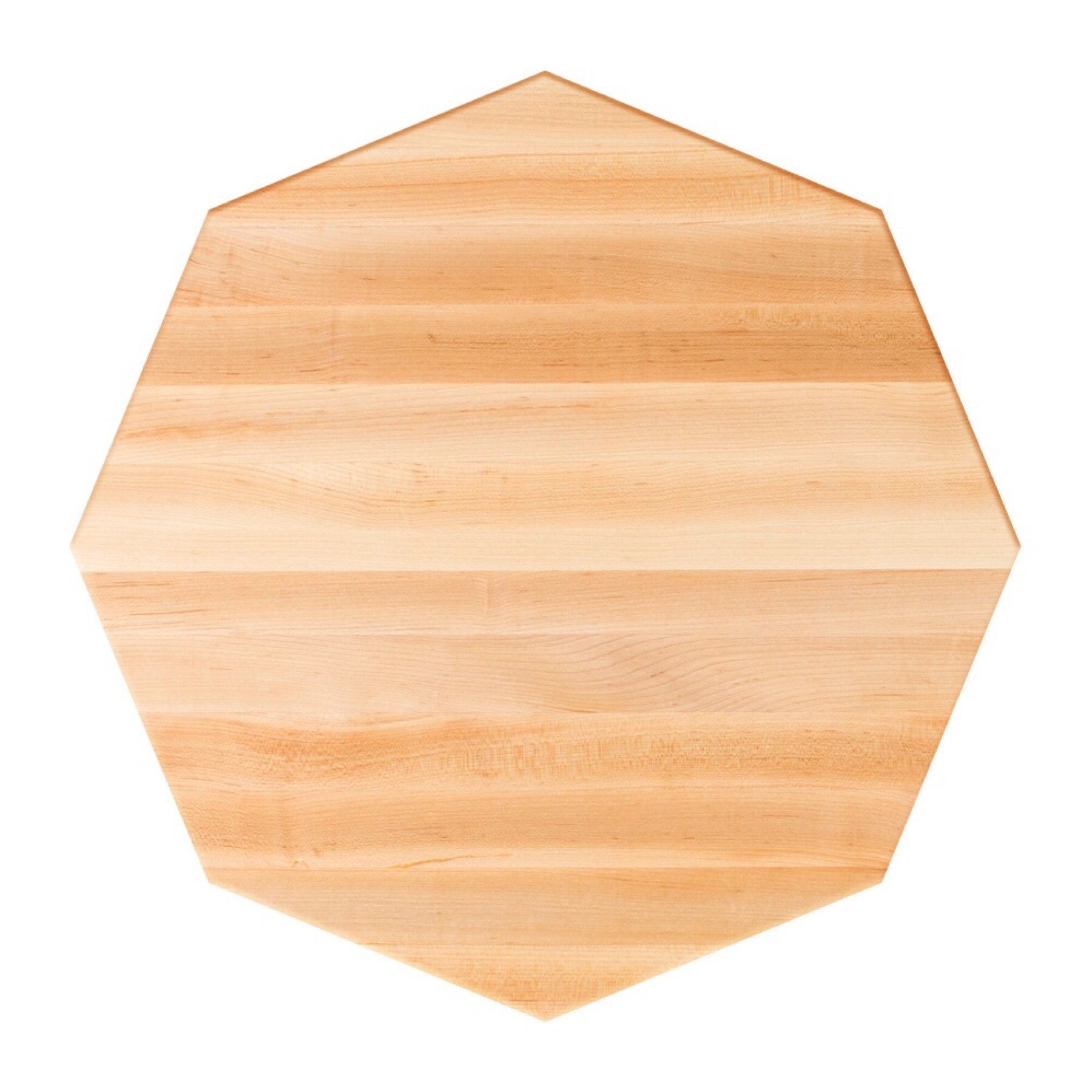John Boos Octagonal RTSM Soft Maple Butcher Block Table Top - Stainable