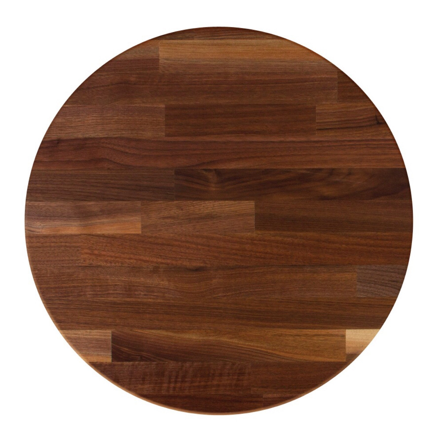 John Boos Round RTW Blended Walnut Butcher Block Table Top