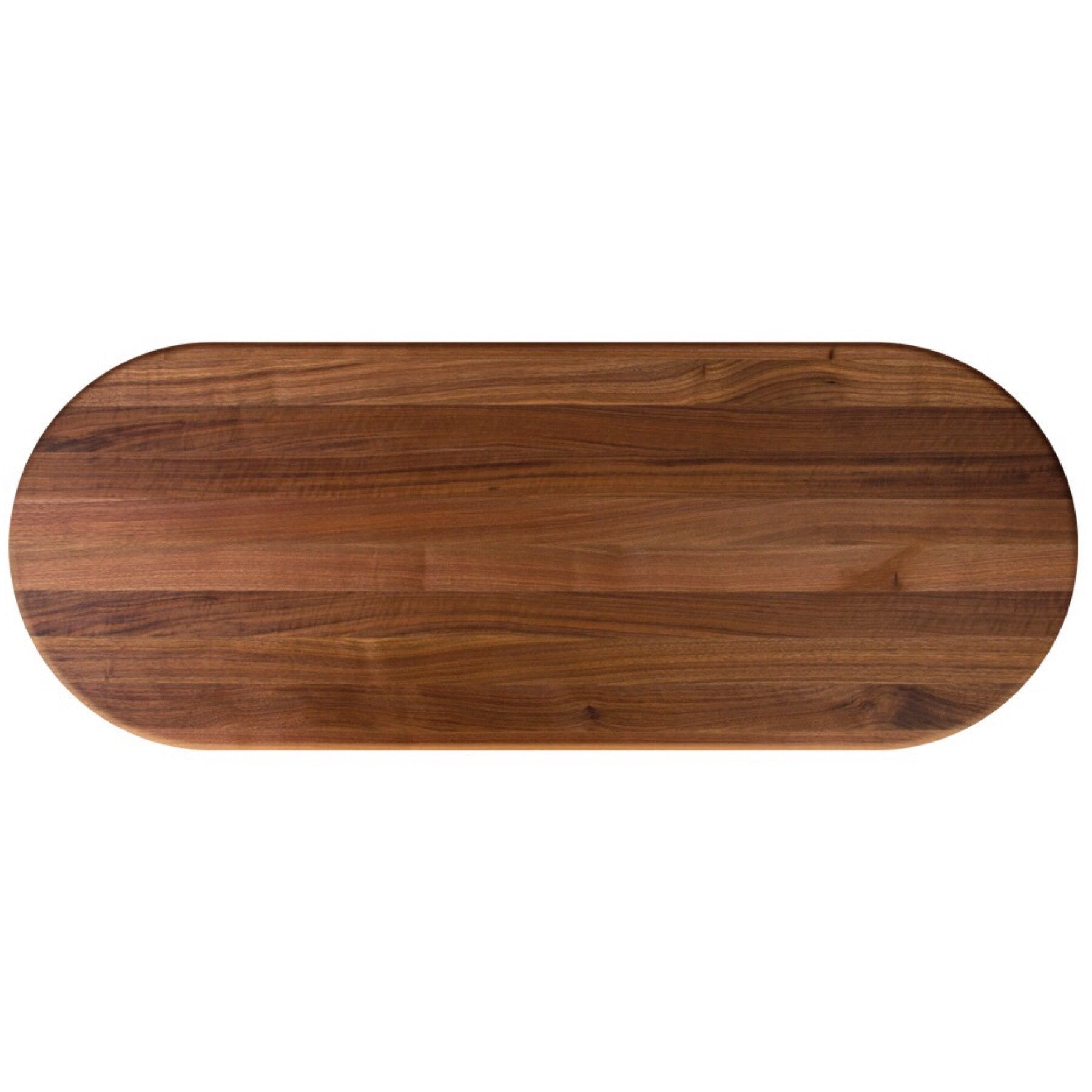 John Boos Oval RTW Walnut Butcher Block Table Top