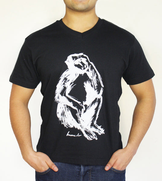 Men's V-Neck - Baboon