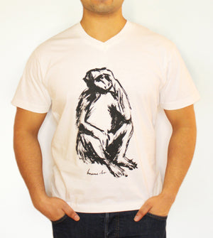 Open image in slideshow, Men's V-Neck - Baboon