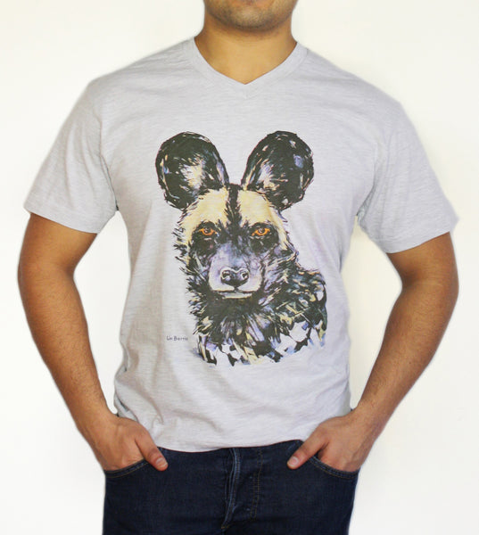 Men's V-Neck - Painted Dog