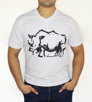 Open image in slideshow, Men's V-Neck - Rhino