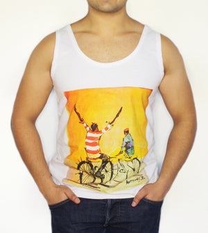 Open image in slideshow, Men's Vest - Two Cyclists