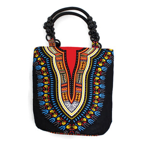 Traditional African Print Beaded Tote Bag - S&E Retail Expo