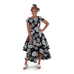 Black & White African Flare Dress - S&E Retail Expo