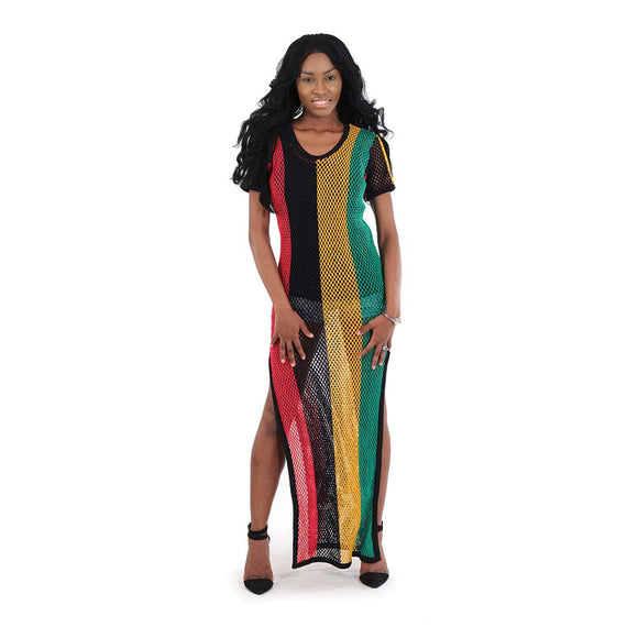 Rasta Reggae Mesh Beach Dress