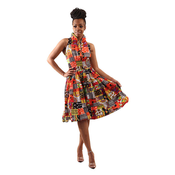African Print Summer Dress - S&E Retail Expo