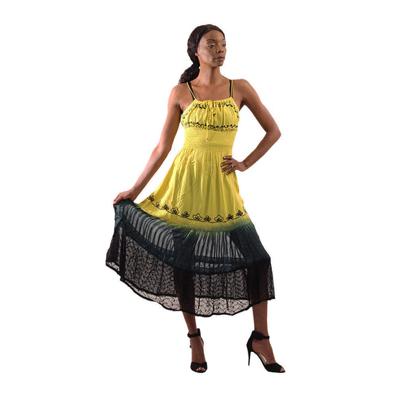 Yellow/Green Mesh Bottom Dress - S&E Retail Expo