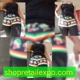 Rasta/Reggae  Two Piece Shorts Set
