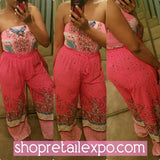 "The ""Pink'n Spring"" Bandeau Jumpsuit - S&E Retail Expo"