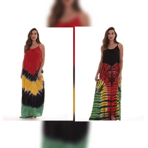 Rasta Reggae Tie Dye Maxi Dress - S&E Retail Expo