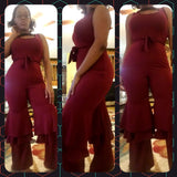 Red Ruffled Bottom Jumpsuit - S&E Retail Expo