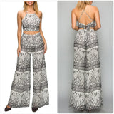 "The ""Black & White Paisley"" Wide Pants Set - S&E Retail Expo"
