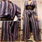 Havanna Nights Palazzo Pants & Crop Top Set - S&E Retail Expo