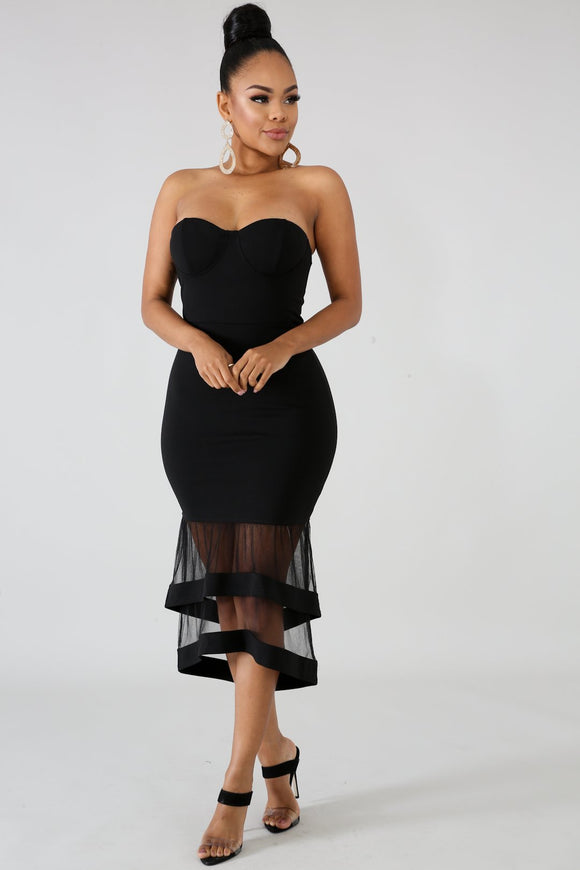 Black Bella Tube Dress